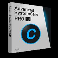 Advanced SystemCare 13 PRO (Suscripción de 1 Año, 3 PCs) – español boxshot